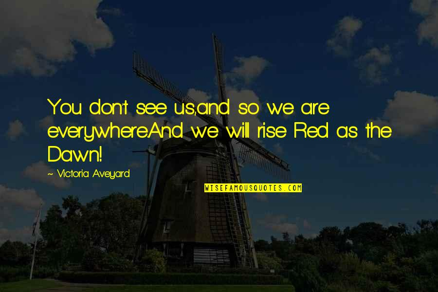 Kingdom Hearts 2 Sora Battle Quotes By Victoria Aveyard: You don't see us,and so we are everywhere.And