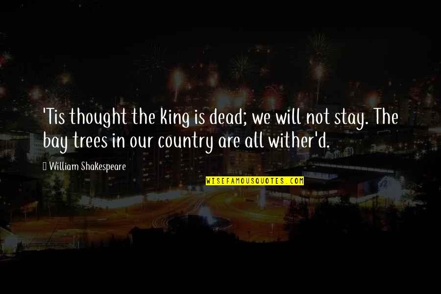 Kings Shakespeare Quotes By William Shakespeare: 'Tis thought the king is dead; we will