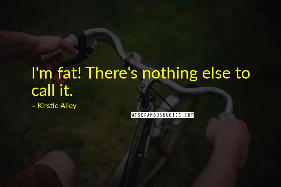 Kirstie Alley quotes: I'm fat! There's nothing else to call it.