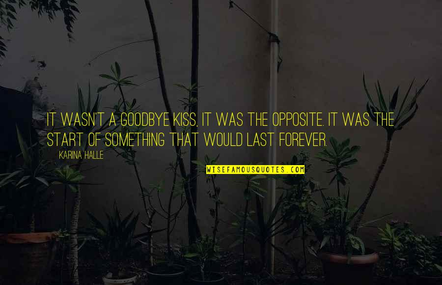 Kiss You Forever Quotes By Karina Halle: It wasn't a goodbye kiss, it was the