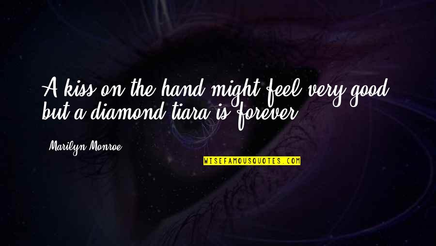 Kiss You Forever Quotes By Marilyn Monroe: A kiss on the hand might feel very