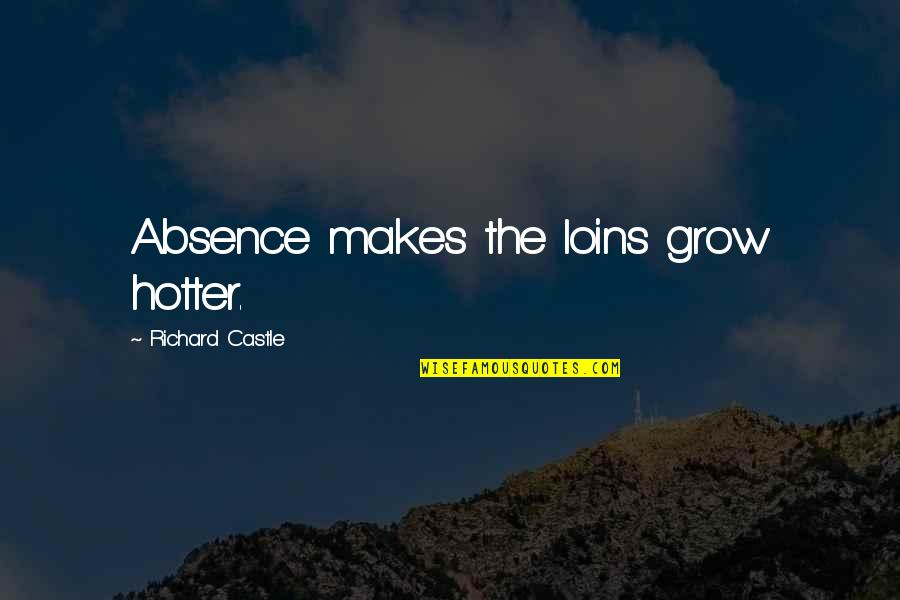Kissing My Love Quotes By Richard Castle: Absence makes the loins grow hotter.