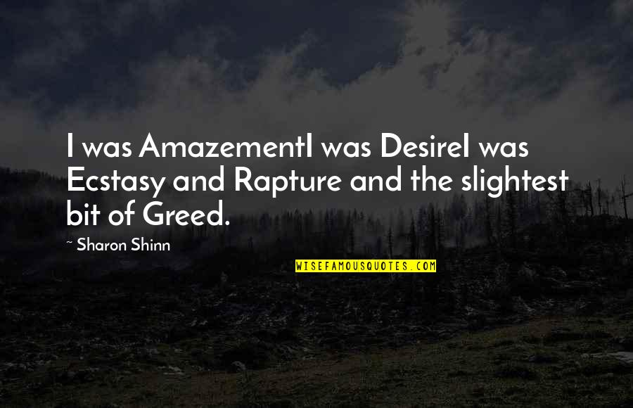 Kissing My Love Quotes By Sharon Shinn: I was AmazementI was DesireI was Ecstasy and