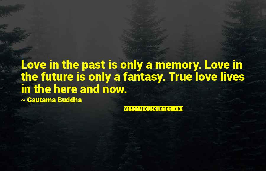 Knee High Quotes By Gautama Buddha: Love in the past is only a memory.