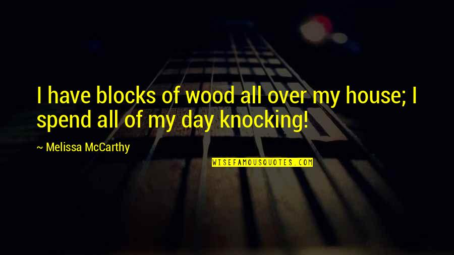 Knocking On Wood Quotes By Melissa McCarthy: I have blocks of wood all over my