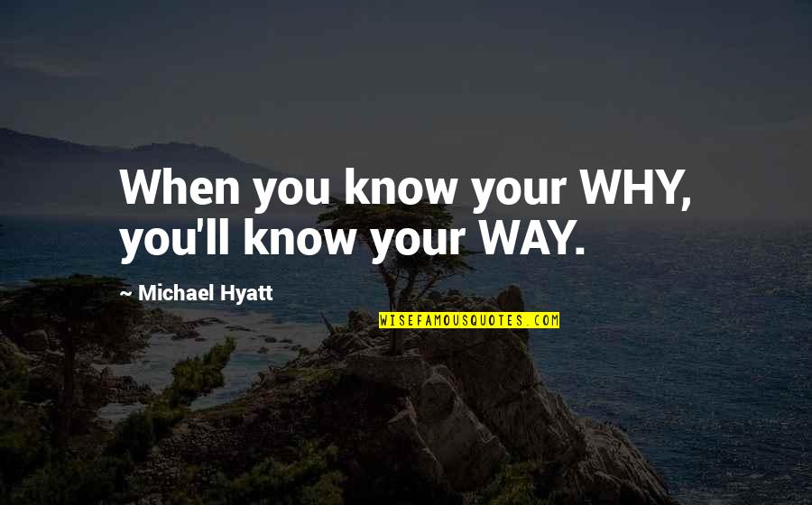 Know You Quotes By Michael Hyatt: When you know your WHY, you'll know your