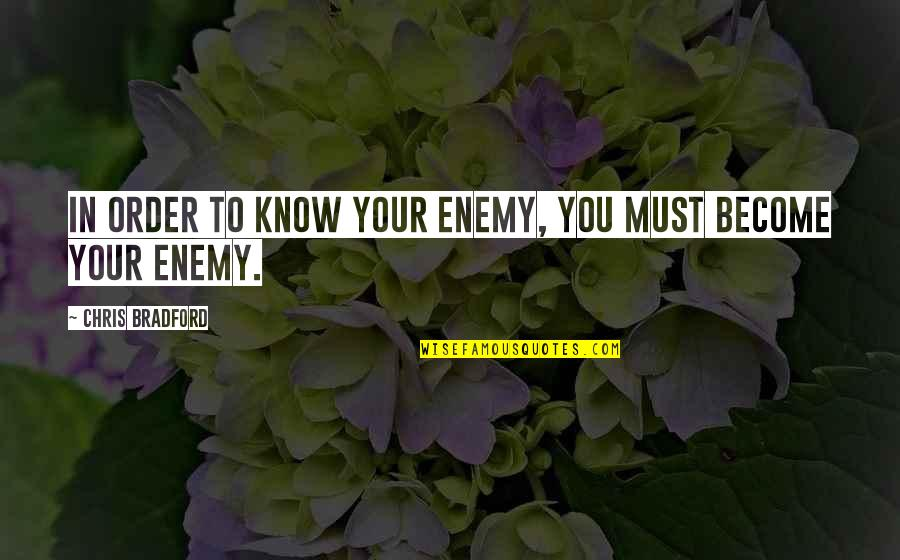 Know Your Enemy Quotes By Chris Bradford: In order to know your enemy, you must