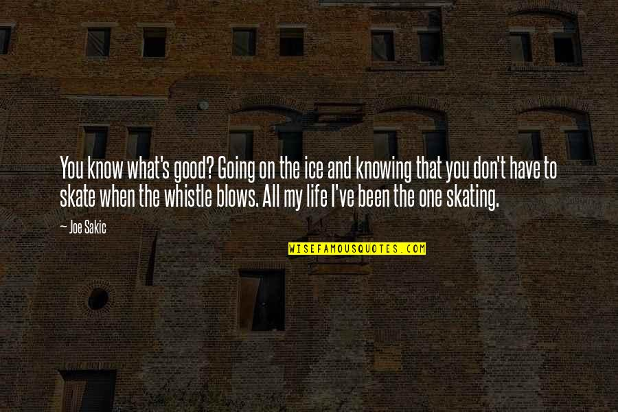 Knowing What You Have Quotes By Joe Sakic: You know what's good? Going on the ice