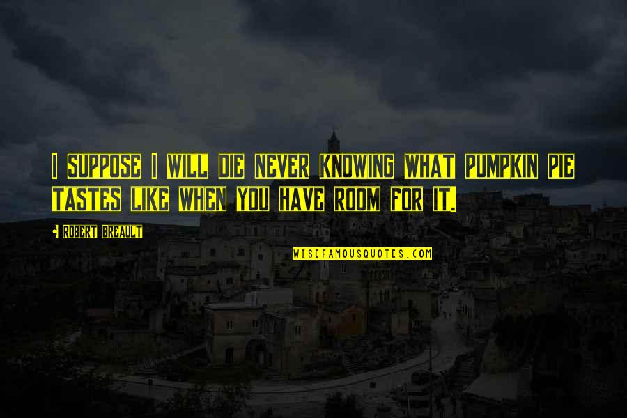 Knowing What You Have Quotes By Robert Breault: I suppose I will die never knowing what