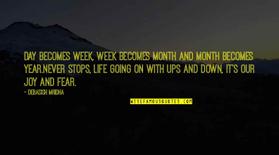 Knowledge And Fear Quotes By Debasish Mridha: Day becomes week, week becomes month and month