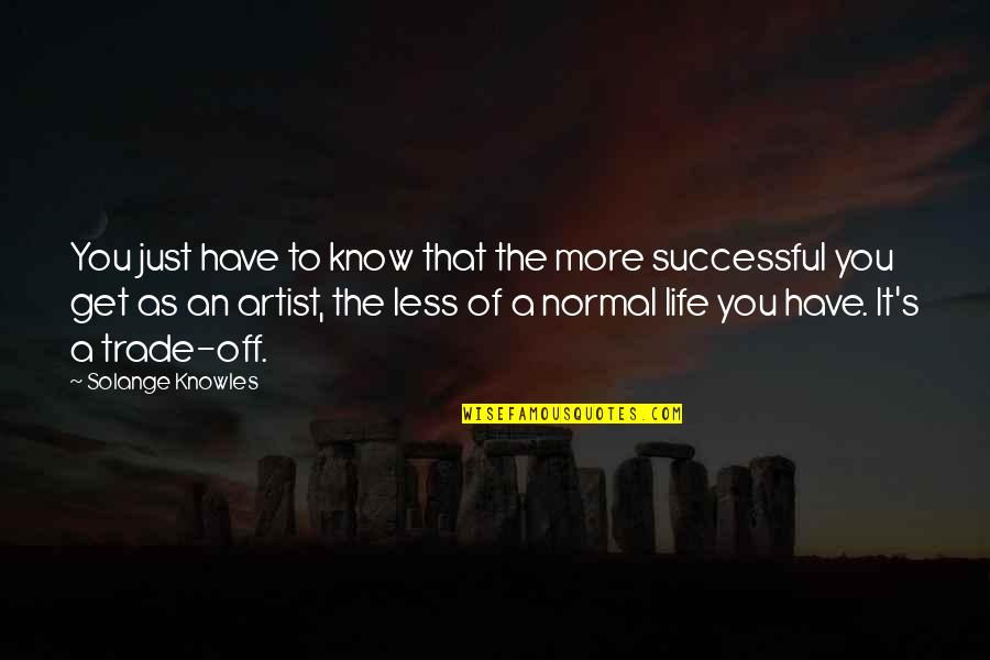 Knowledge Corrupts Quotes By Solange Knowles: You just have to know that the more