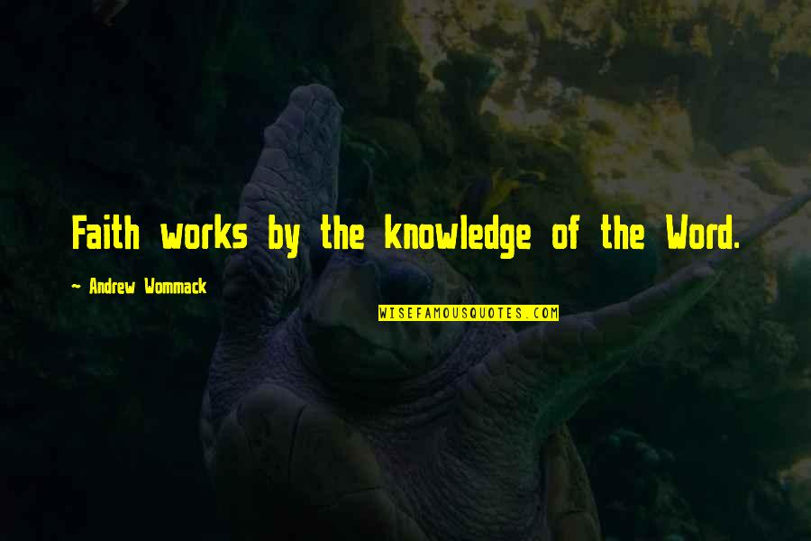 Knowledge From The Bible Quotes By Andrew Wommack: Faith works by the knowledge of the Word.