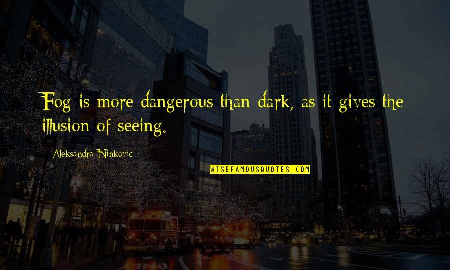 Knowledge Is Dangerous Quotes By Aleksandra Ninkovic: Fog is more dangerous than dark, as it