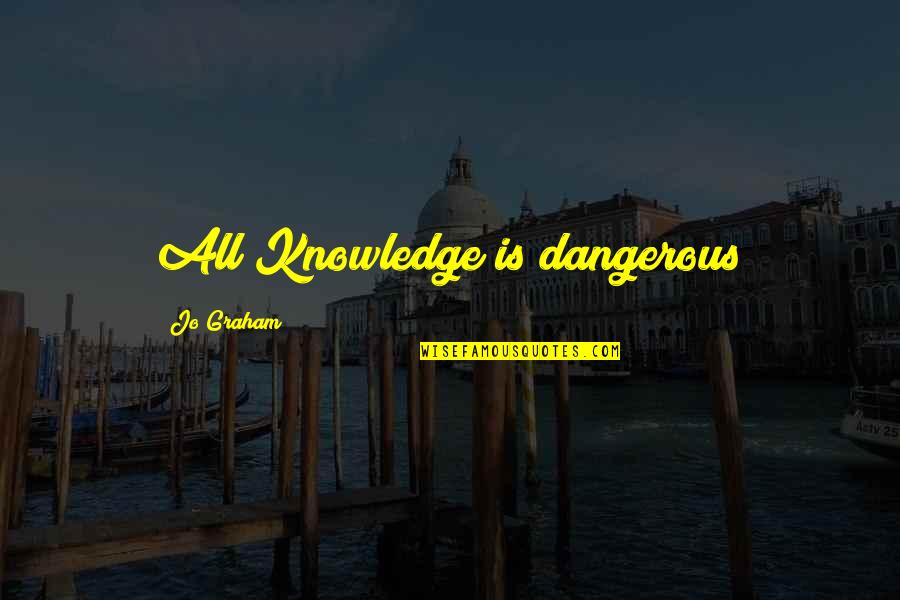 Knowledge Is Dangerous Quotes By Jo Graham: All Knowledge is dangerous
