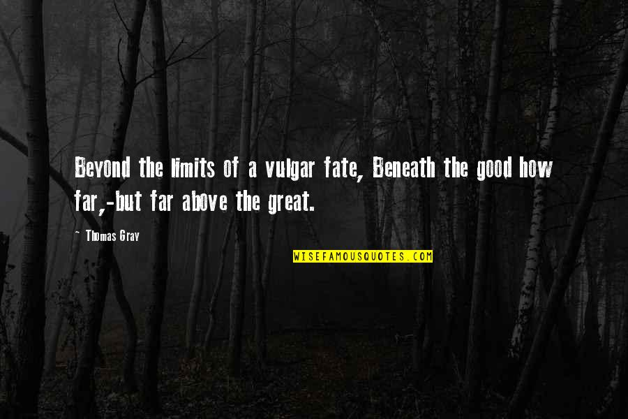 Kobus Van Rensburg Quotes By Thomas Gray: Beyond the limits of a vulgar fate, Beneath