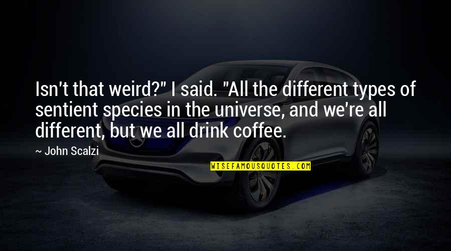 """Kolkatans Quotes By John Scalzi: Isn't that weird?"""" I said. """"All the different"""