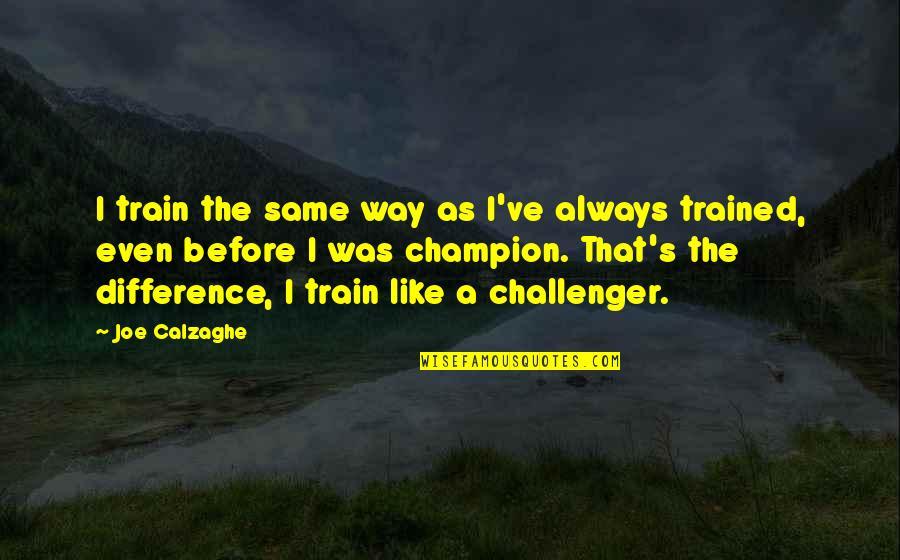 Konrad Von Gesner Quotes By Joe Calzaghe: I train the same way as I've always