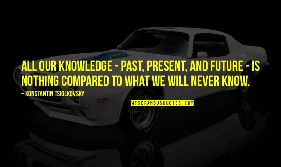 Konstantin E. Tsiolkovsky Quotes By Konstantin Tsiolkovsky: All our knowledge - past, present, and future