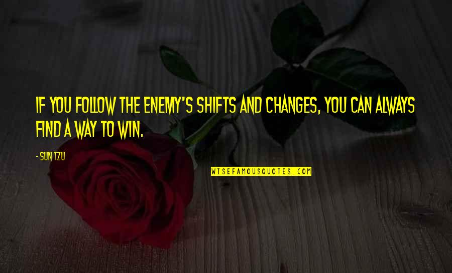 Kresely Quotes By Sun Tzu: If you follow the enemy's shifts and changes,