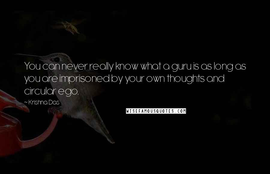 Krishna Das quotes: You can never really know what a guru is as long as you are imprisoned by your own thoughts and circular ego.