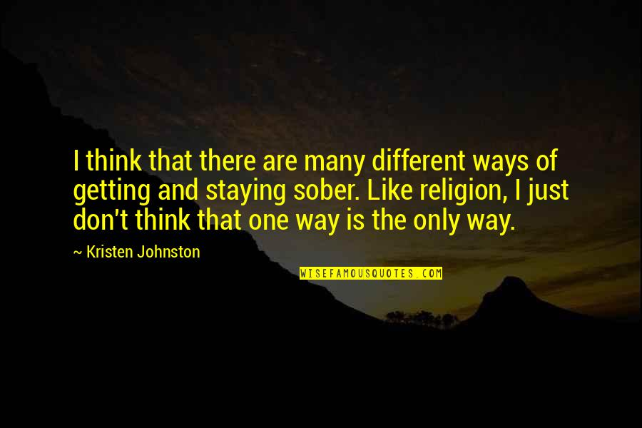 Kristen Johnston Quotes By Kristen Johnston: I think that there are many different ways