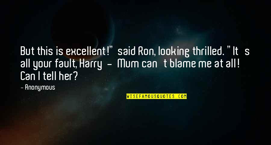 """Kuyperian Quotes By Anonymous: But this is excellent!"""" said Ron, looking thrilled."""