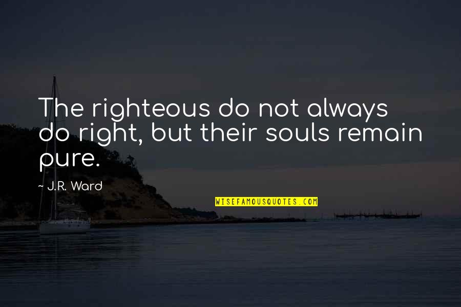 Kuyperian Quotes By J.R. Ward: The righteous do not always do right, but