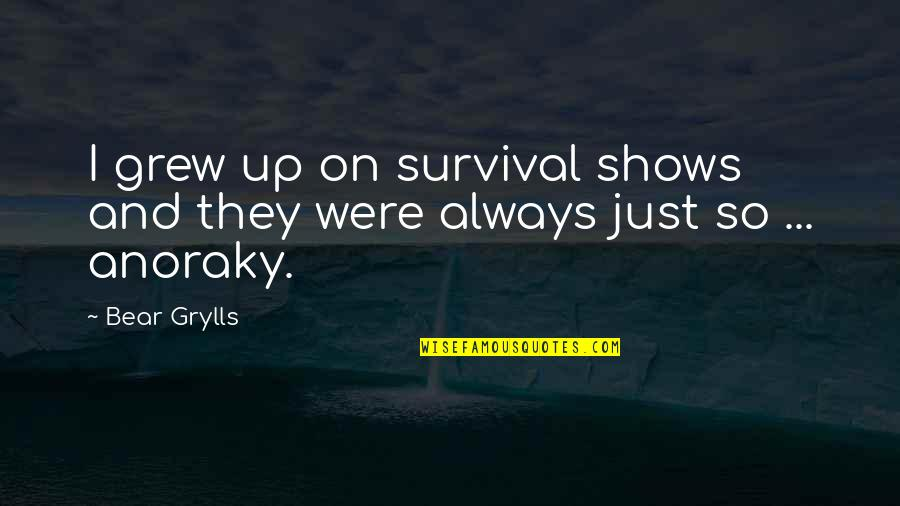 Kuzco Llama Quotes By Bear Grylls: I grew up on survival shows and they