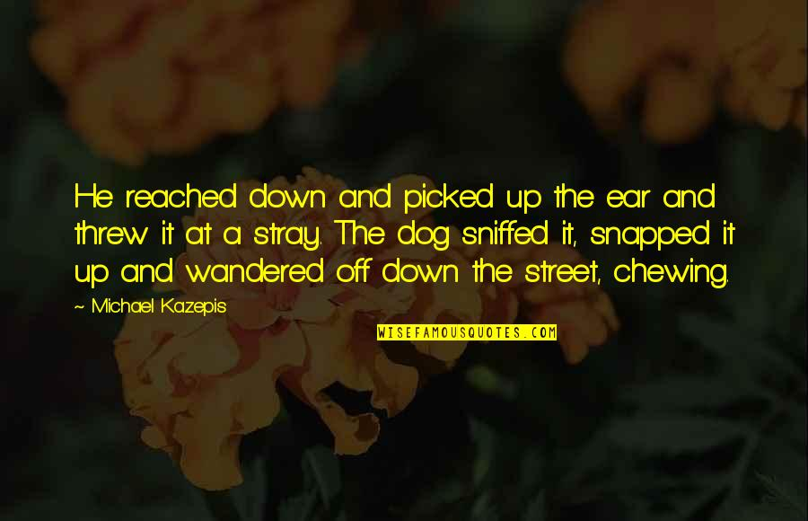 Kwek Leng Beng Quotes By Michael Kazepis: He reached down and picked up the ear