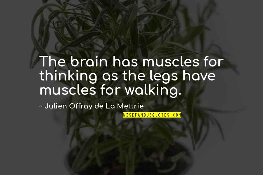 La Mettrie Quotes By Julien Offray De La Mettrie: The brain has muscles for thinking as the