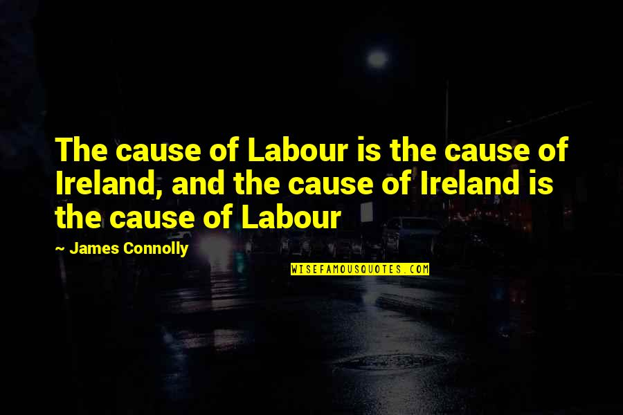 Labour'd Quotes By James Connolly: The cause of Labour is the cause of