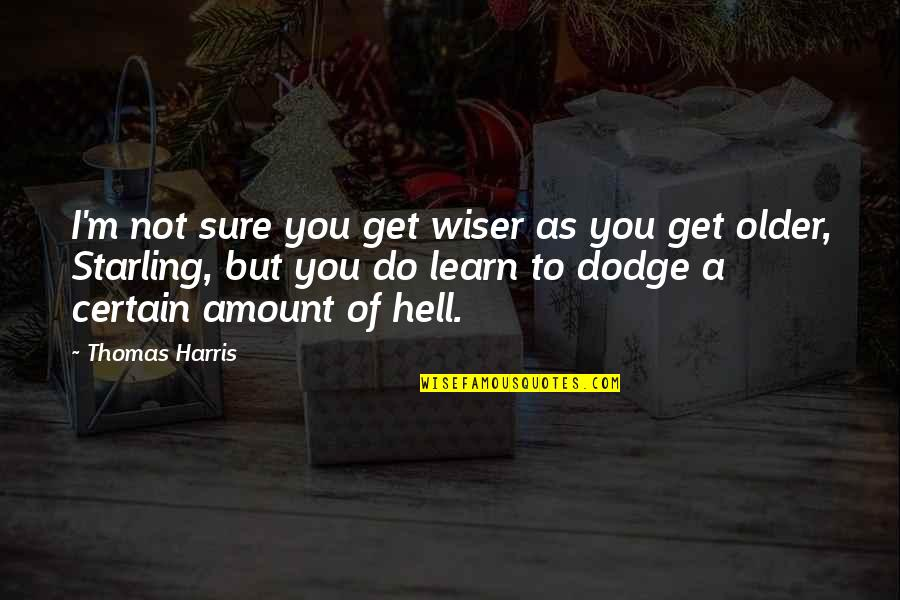 Lac Quotes By Thomas Harris: I'm not sure you get wiser as you