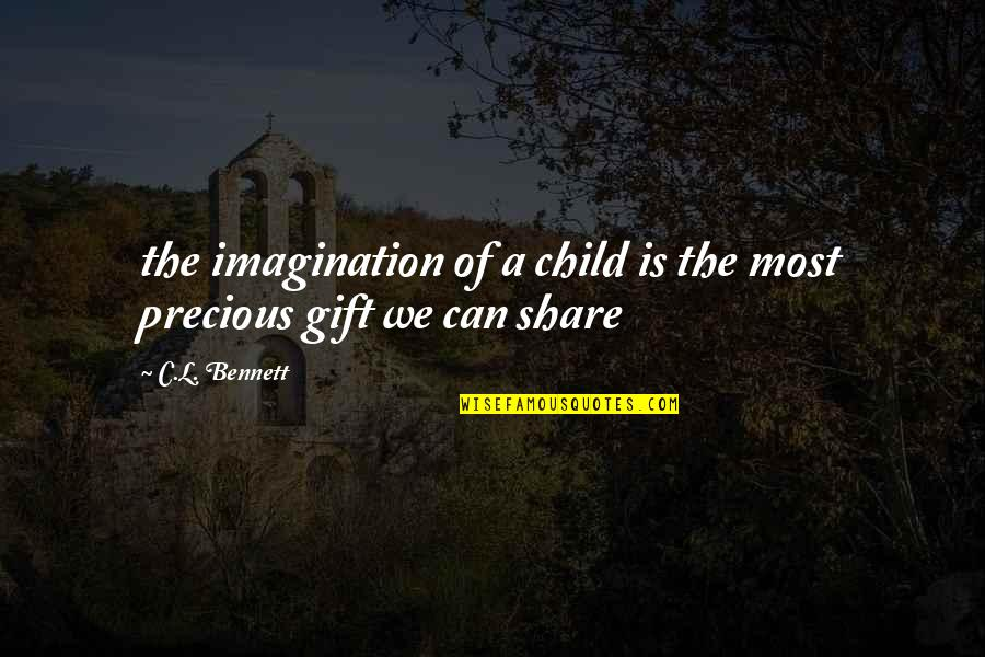 Lack Of Communication In Relationships Quotes By C.L. Bennett: the imagination of a child is the most