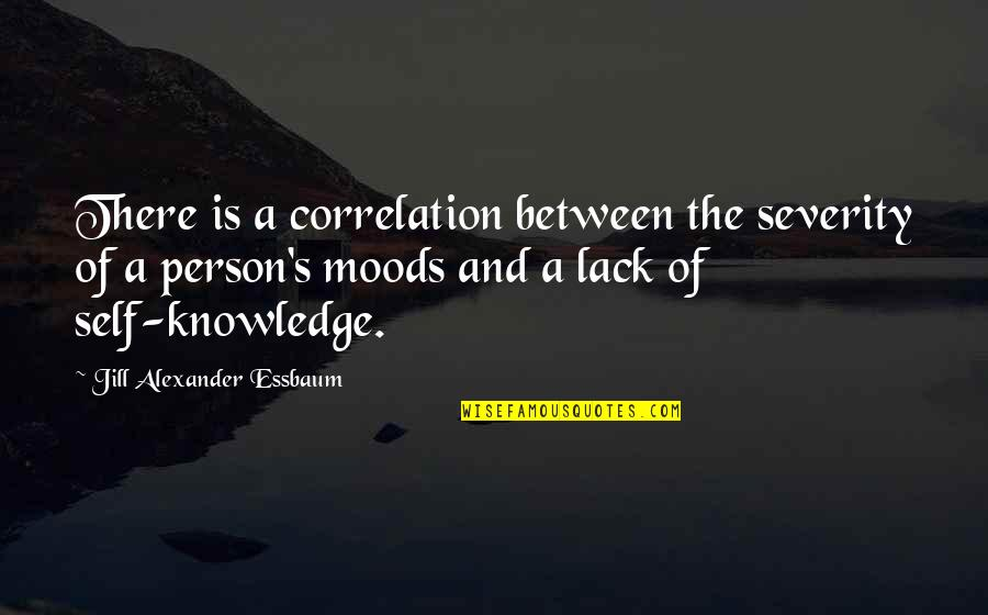 Lack Of Knowledge Quotes By Jill Alexander Essbaum: There is a correlation between the severity of