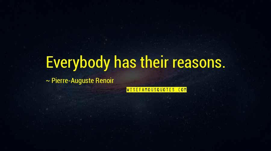 Ladies Garments Quotes By Pierre-Auguste Renoir: Everybody has their reasons.