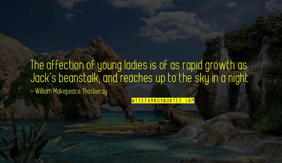 Ladies Night In Quotes By William Makepeace Thackeray: The affection of young ladies is of as
