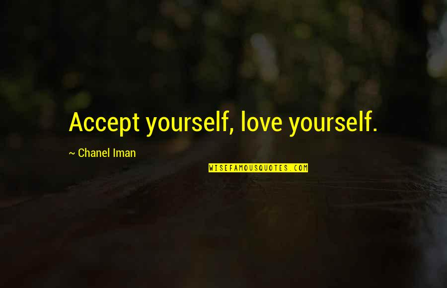 Ladybug Wall Quotes By Chanel Iman: Accept yourself, love yourself.