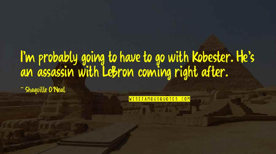Lakers Basketball Quotes By Shaquille O'Neal: I'm probably going to have to go with