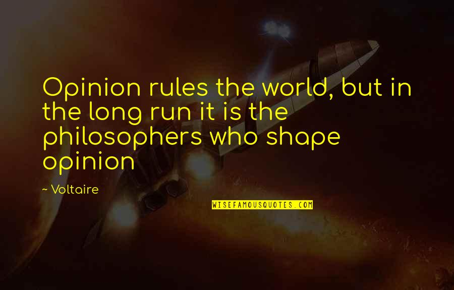 Lancel's Quotes By Voltaire: Opinion rules the world, but in the long