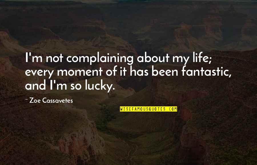 Landsmen Quotes By Zoe Cassavetes: I'm not complaining about my life; every moment