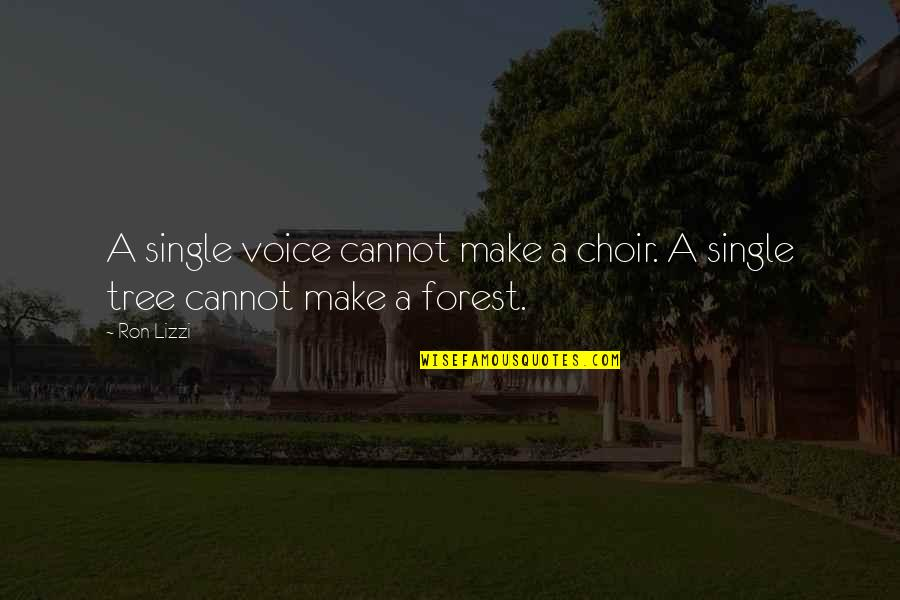 Lao Tzu Wu Wei Quotes By Ron Lizzi: A single voice cannot make a choir. A