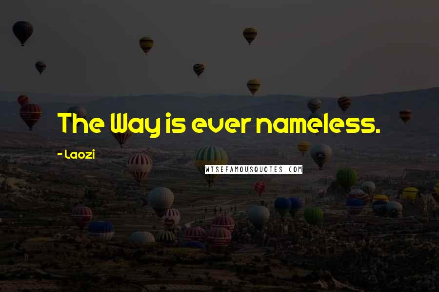 Laozi quotes: The Way is ever nameless.