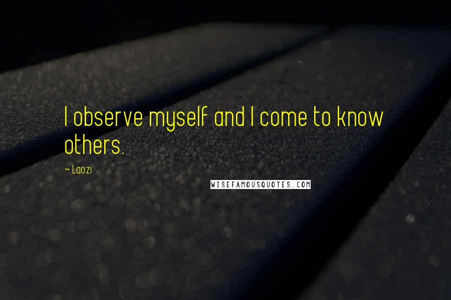 Laozi quotes: I observe myself and I come to know others.