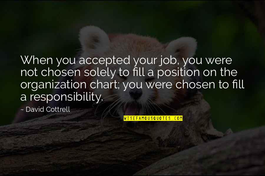 Large Cities Quotes By David Cottrell: When you accepted your job, you were not