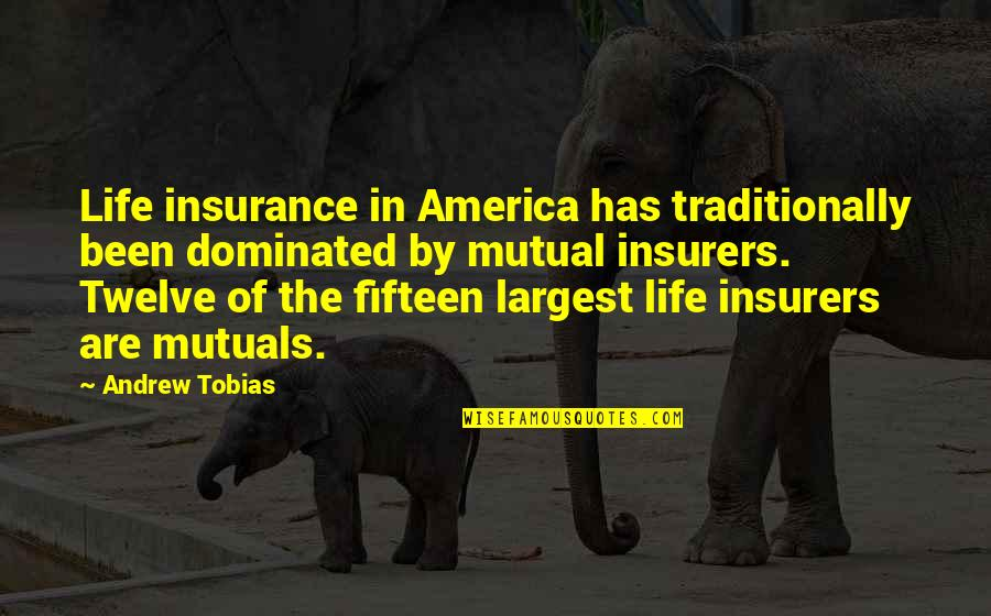 Largest Quotes By Andrew Tobias: Life insurance in America has traditionally been dominated