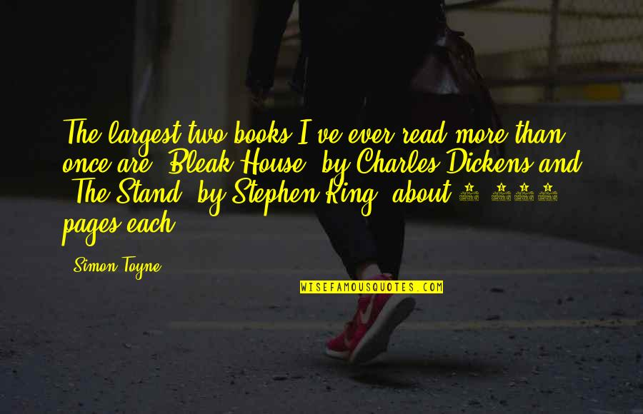 Largest Quotes By Simon Toyne: The largest two books I've ever read more