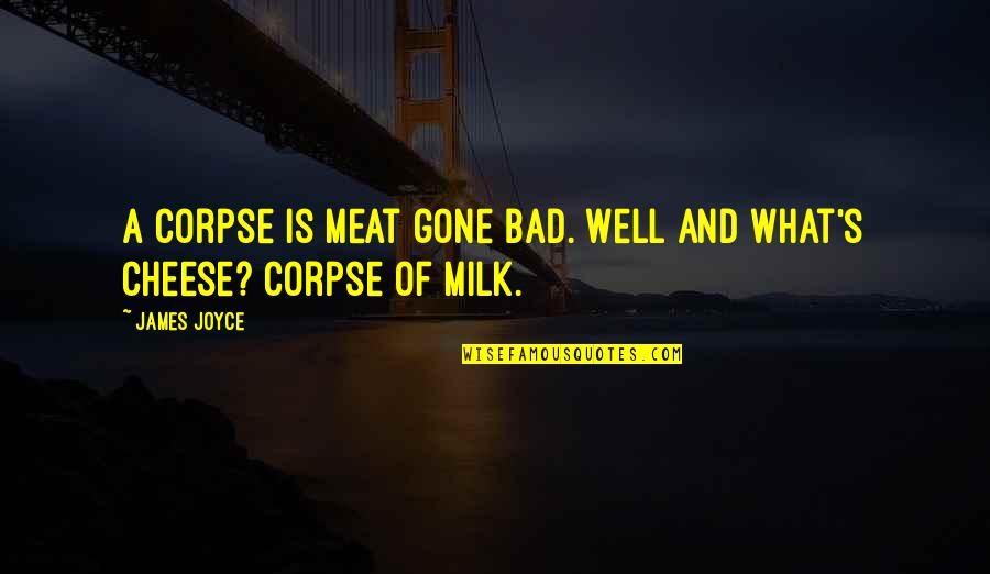 Lark And Termite Quotes By James Joyce: A corpse is meat gone bad. Well and