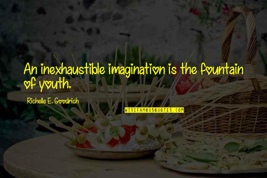Lark And Termite Quotes By Richelle E. Goodrich: An inexhaustible imagination is the fountain of youth.