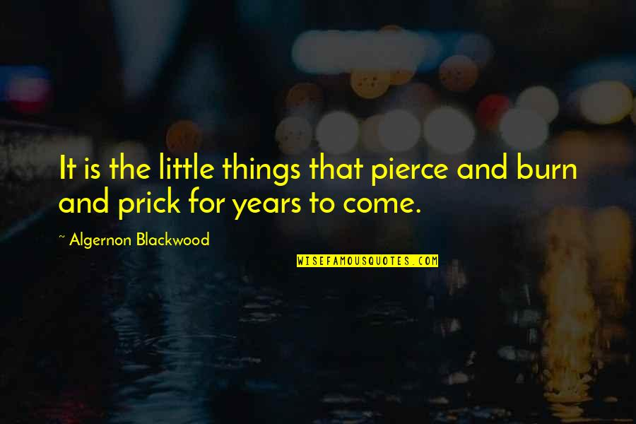 Larouche Quotes By Algernon Blackwood: It is the little things that pierce and