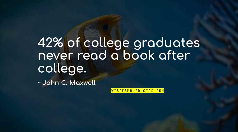 Larouche Quotes By John C. Maxwell: 42% of college graduates never read a book